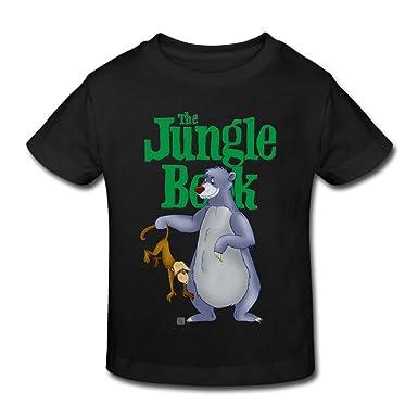 562d84686 Amazon.com: Danielle The Jungle Book Bear Baloo Children's T Shirts For  Girls & Boys T Shirts Black: Clothing