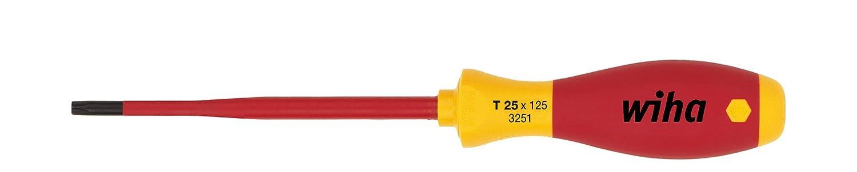 34578 Allrounder f/ür Elektriker Wiha Bit slimBit electric Schlitz 2,5 mm x 75 mm f/ür tiefliegende Schrauben