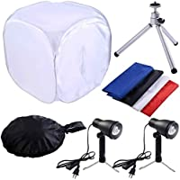 Safstar 24x24 Photo Photography Studio Shooting Tent Lighting Kit Translucent Tent Cube Diffusion Soft Box with Stand