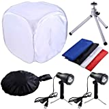 Safstar 24''x24'' Photo Photography Studio Shooting Tent Lighting Kit Translucent Tent Cube Diffusion Soft Box with Stand