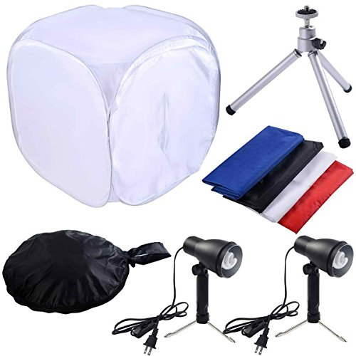 Safstar 24''x24'' Photo Photography Studio Shooting Tent Lighting Kit Translucent Tent Cube Diffusion Soft Box with Stand by S AFSTAR
