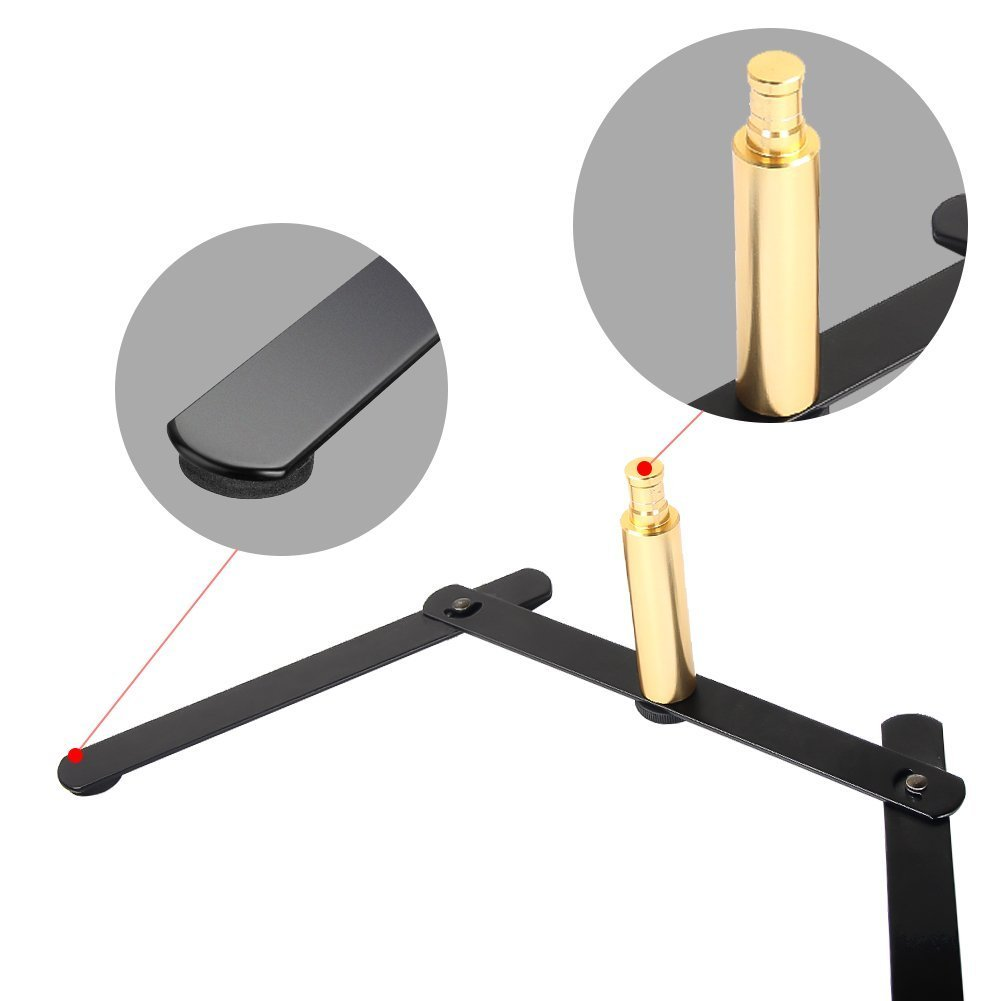 Zomei Tabletop Ring Light Stand Portable Metal Desk Base for Makeup, Selfie, Live Stream, Webcast, Portrait, YouTube Facebook Video Shooting
