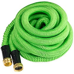 Quality Source Products Garden Hose 50 Feet Expandable Hose with All Brass Connectors Expanding 3X Size