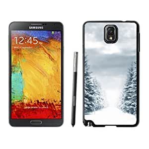 Custom and Personalized Cell Phone Case Design with Forest Path Winter Snow Galaxy NOTE 3 N900P Wallpaper