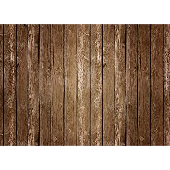 Mehofoto Brown Wood Backdrop 5x7 Nostalgia Brown Vintage Wooden Wall and Floor Photography Background Seamless Photo Booth Props