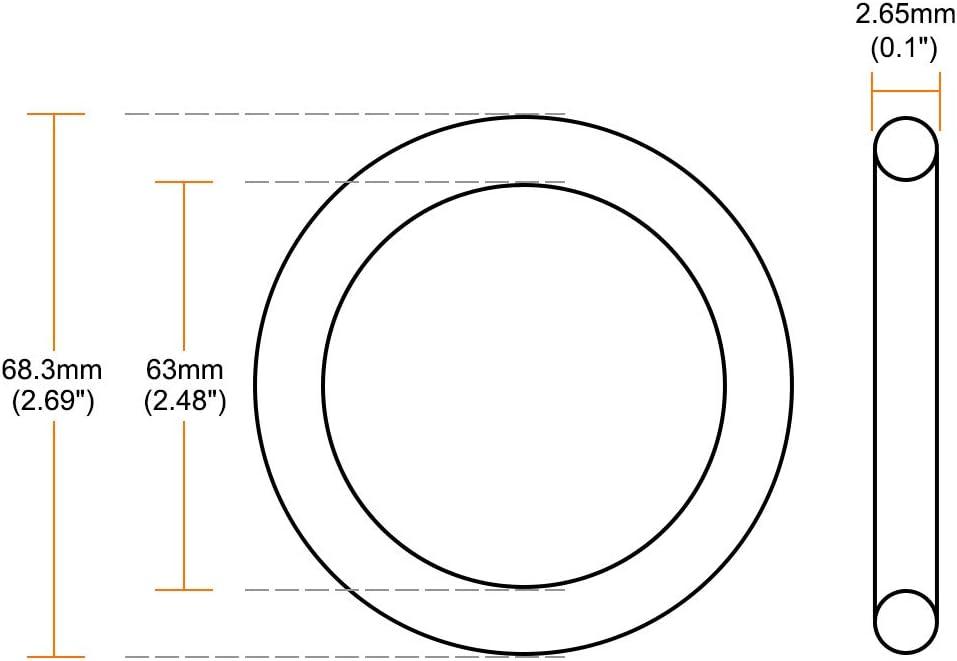 Pack of 10 Metric Buna-N Sealing Gasket uxcell Nitrile Rubber O-Rings 55mm OD 45mm ID 5mm Width