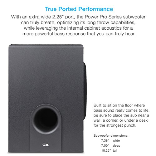 Cyber Acoustics CA-3602FFP 2.1 Speaker Sound System with Subwoofer and Control Pod - Great for Music, Movies, Multimedia Pcs, Macs, Laptops and Gaming Systems by Cyber Acoustics (Image #3)