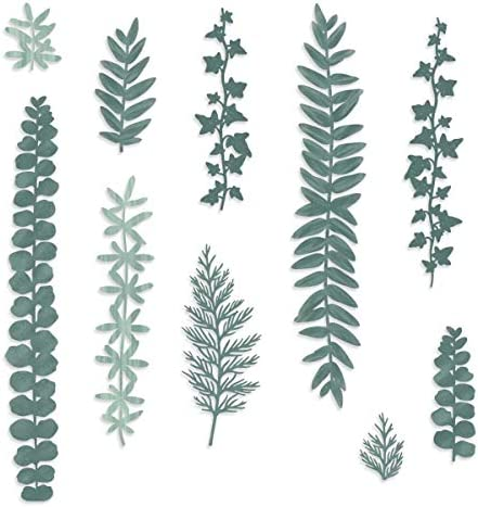 Rare Creative Memories Beneath The Pines Laser Cut Embellishments (10 pk) Themed Forest Double Sided Laser Cut Leaf for Scrap Booking and Card Making
