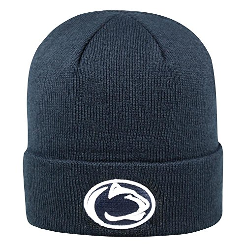 Penn State Nittany Lions Official NCAA Cuffed Knit Tow Beanie Stocking Stretch Sock Hat Cap by Top of the World 935980