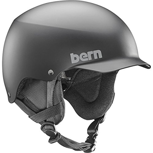Bern Baker Matte - Bern Men's Team Baker Ski Snow Bike Helmet Matte Black Large