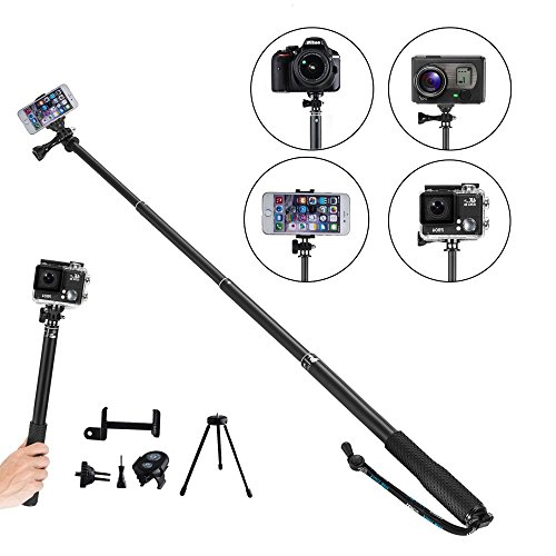YunTeng Universal Monopod for Mobile Phones and Camera (Black) - 3