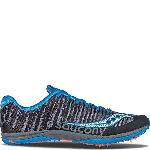 Saucony Men's Kilkenny XC5 Cross-Country Shoe, Nero, 42 D(M) EU/7.5 D(M) UK