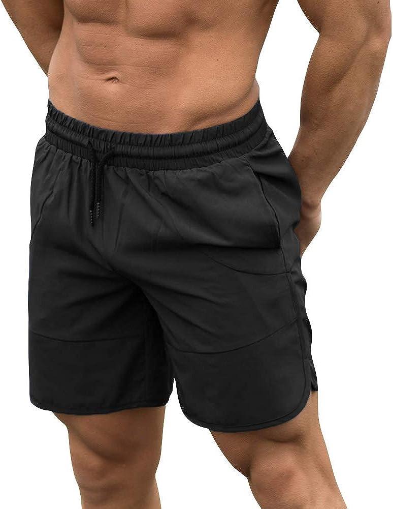 MECH-ENG Mens Bodybuilding Gym Dry Fit Running Mesh Boxing Shorts
