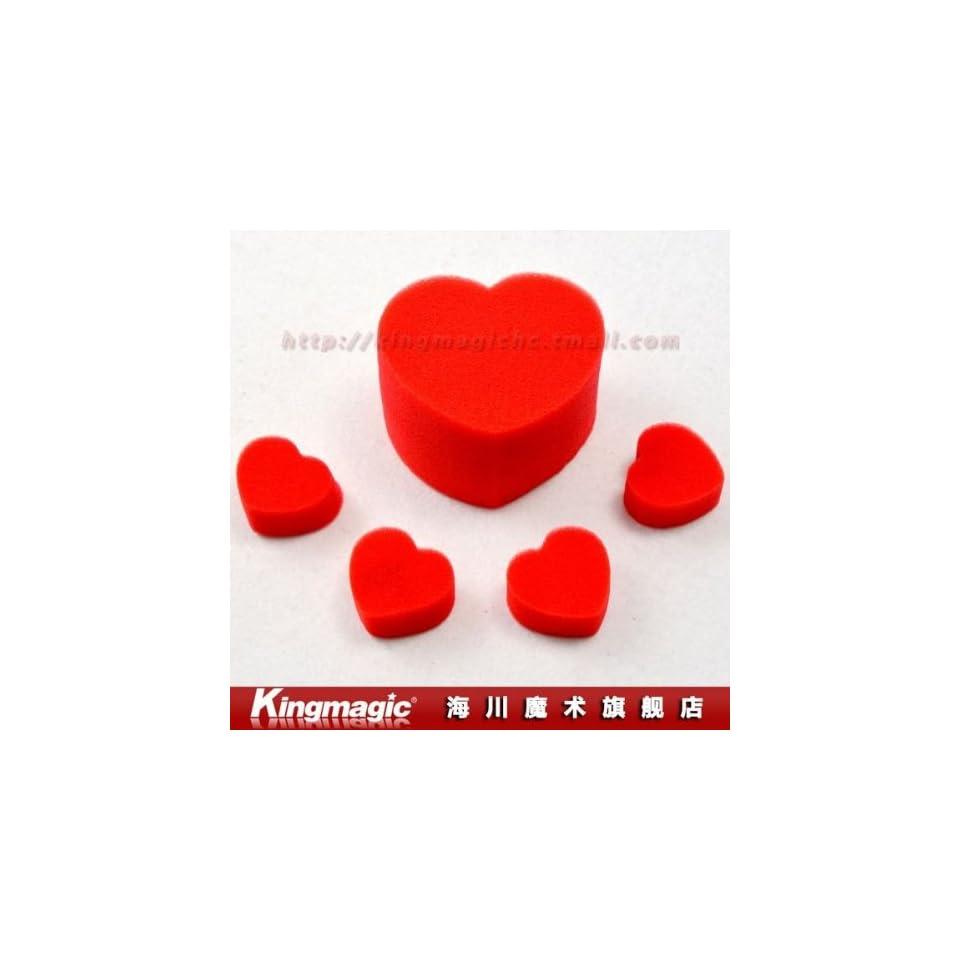by cpam sponge heart/magic heart/magic props/magic tricks set  jumbo sponge heart