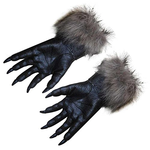 Gloves Play Latex Halloween Party Adult Sexy Golves Five Fingers For Women Cosplay Costume Punk Fetish (Finger Food For Halloween Party)