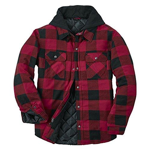 Other Men's Hooded Flannel Shirt Jacket (Red Flannel Jacket)