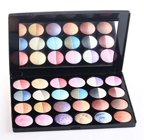 Pure Vie Professional 24 Colors Glitter Make-up Powder Metallic Shimmer Eyeshadow Palette Highly Pigmented Contouring Kit - Ultra Long Lasting Makeup Palette for Valentine's Day Wedding Evening Party