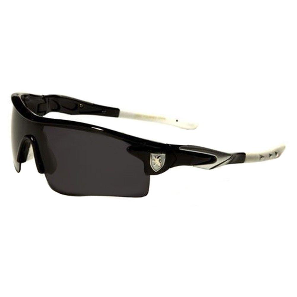 Black White SD Polarized Mirror Lens Mens Fishing Cycling Baseball Sport Wrap Sunglasses
