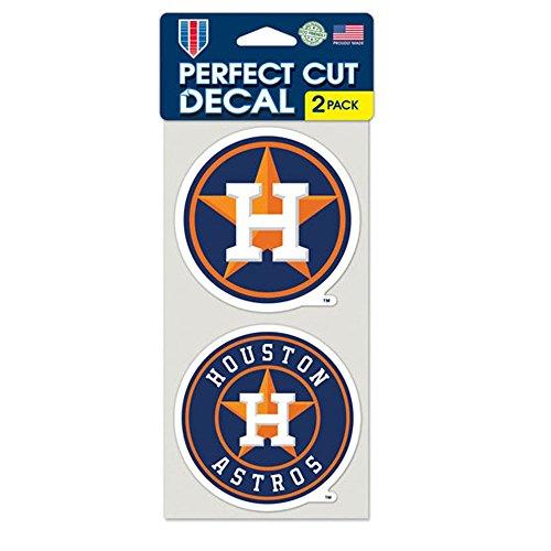Mlb Houston Astros Decal (MLB Houston Astros Perfect Cut Decal (Set of 2), 4
