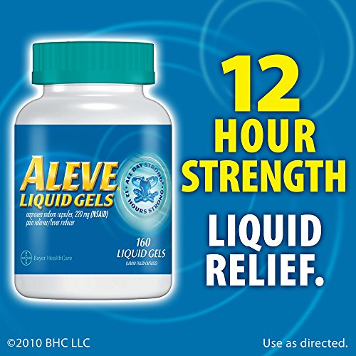 Aleve 220mg Liquid Gel Capsules - 160 ct. (pack of 2) by Aleve