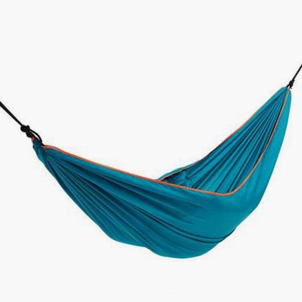 Hängematte Outdoor-Camping Hängematte Camping Hängematte hochfeste kompakte hellblau Hängematte Anti-Rollover Hängematte hellblau (260  152cm) 651a0a
