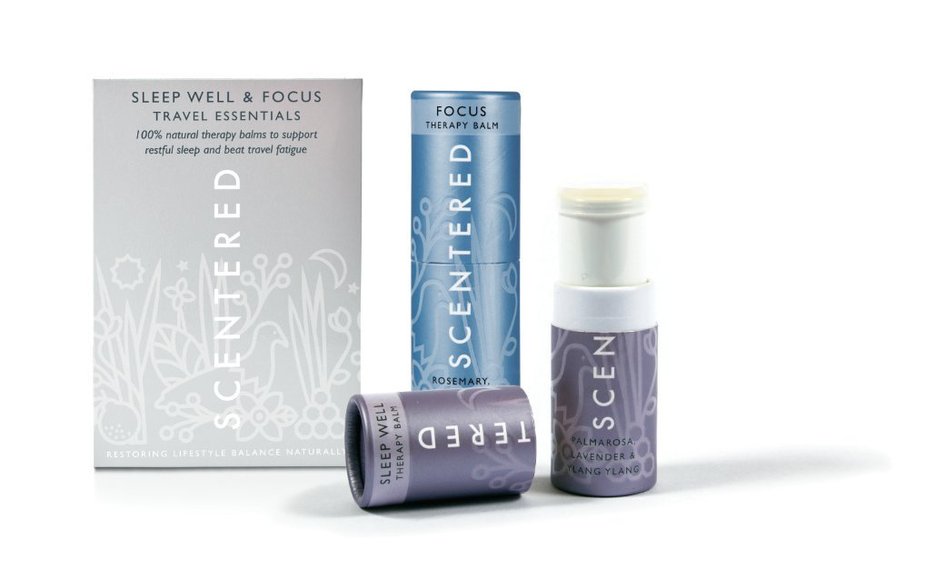 Scentered Aromatherapy Sleep Well/Focus Balm Stick Set - Travel Essentials Therapy Balm Duo