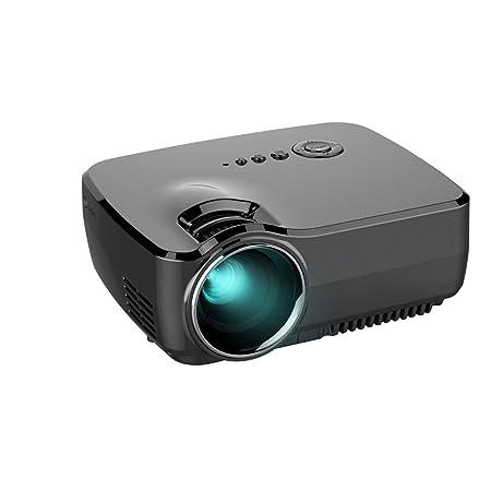 Wangchengtyy Proyector HD portátil Mini 1080P, 1800 lúmenes para ...