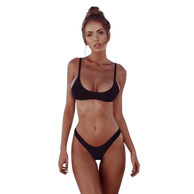 Amazon.com: leyorie Mujer brasileño Bikini parte inferior ...