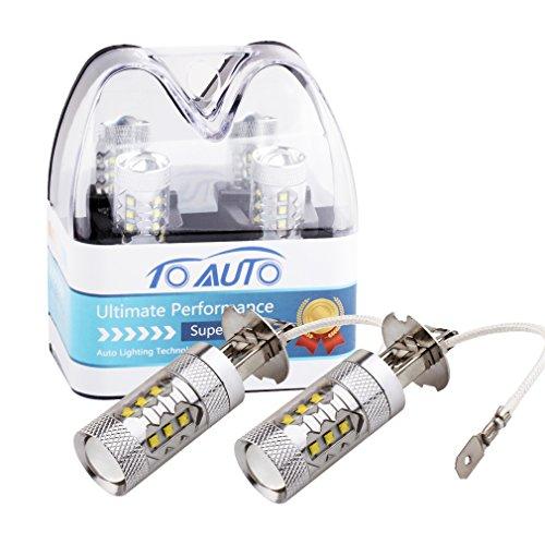 100W [H3] White LED Fog DRL Daytime Driving Light Lamp Bulbs - 5