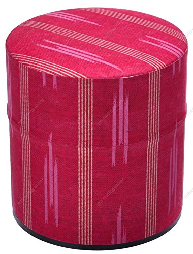 Japanese Metal Tin Air Tight Tea Canister with Beautiful Line Design, 3 Ounce, 3 Inches Diameter x 3 Inches High by M.V. Trading