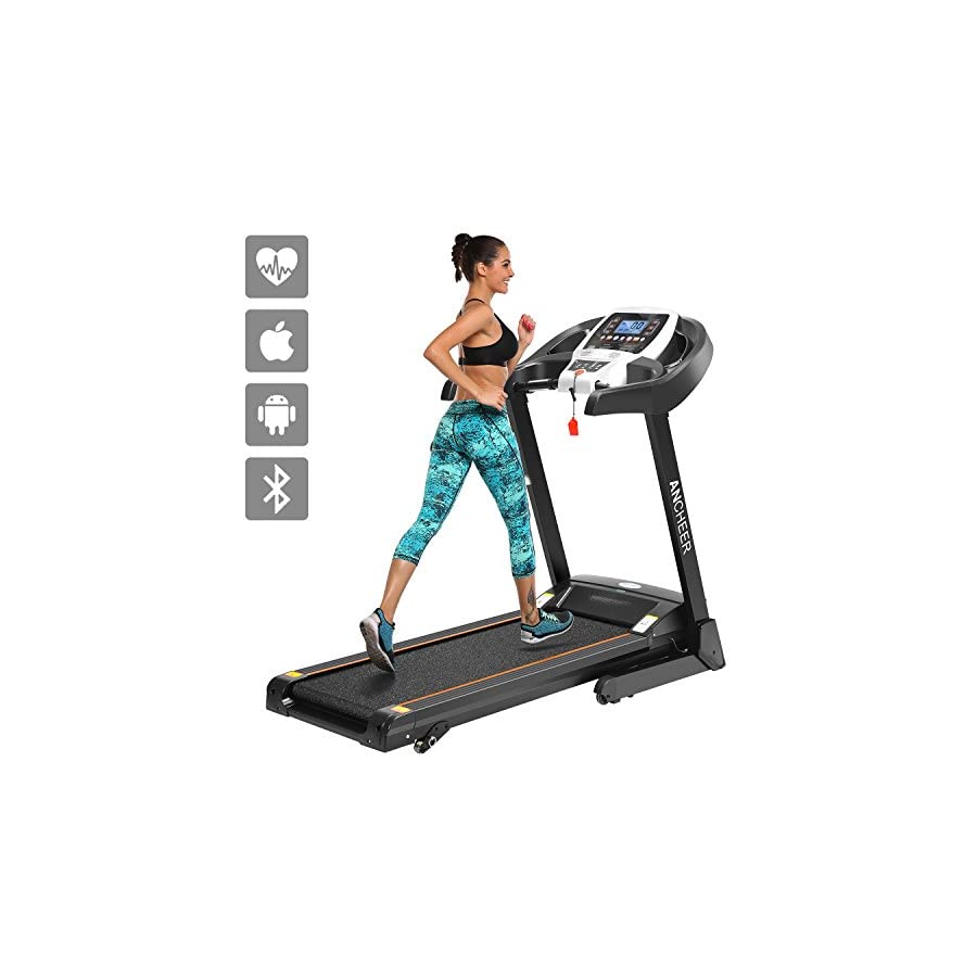 ANCHEER Electric Folding Treadmill Health Fitness Training Equipment T900