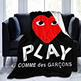 Comme Des Garcons Play Couch Blanket Flannel Fleece