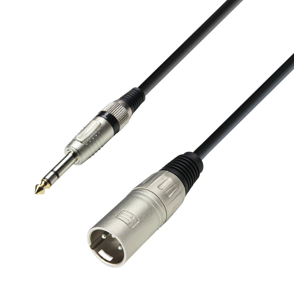 conector macho XLR a conector est/éreo 6,3 mm, longitud: 10 m Adam Hall 3 Star Serie Cable para micr/ófono
