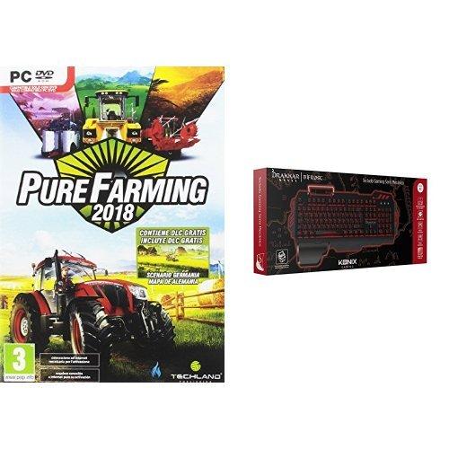Pure Farming 2018 + Konix Ragnarok - Auriculares con micrófono para juegos, color negro: Amazon.es: Videojuegos