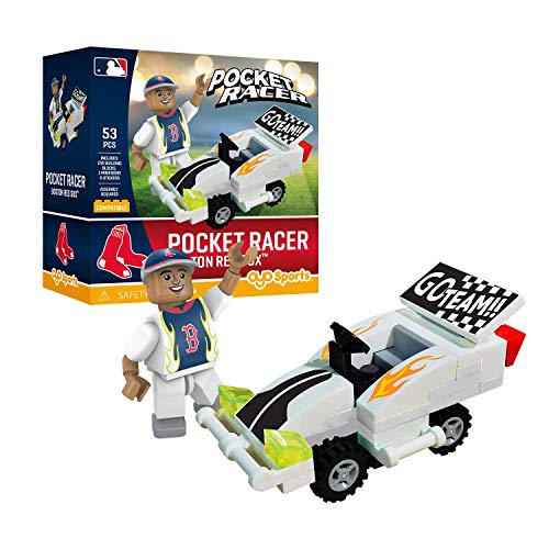 (Boston Red Sox OYO Sports Toys Pocket Racer Set with Minifigure 53PCS)