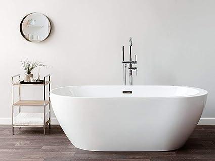 Vasca Da Bagno Stile Inglese Prezzi : Beliani vasca da bagno freestanding con idromassaggio nevis