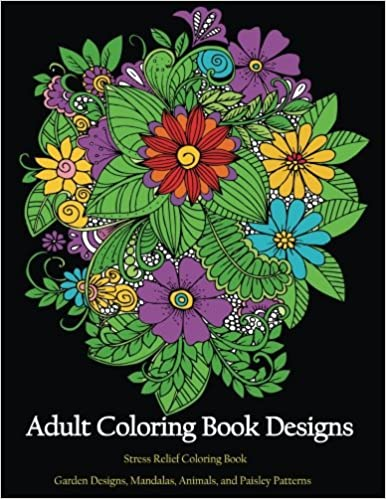 Adult Coloring book Designs Stress relief coloring Garden