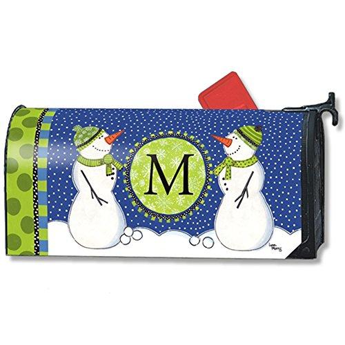 Magnet Works Winter Frolic Letter M Monogram Mailwrap