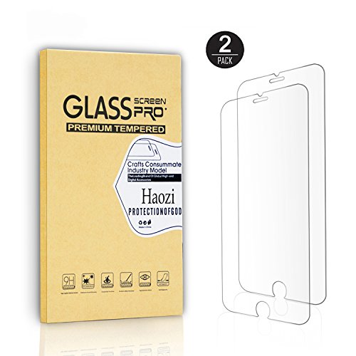[ 2 Pack] iPhone6/6S Haozi Tempered Screen Protector [Crystal Clear] [Bubble Free] with Lifetime Replacement Warranty Screen (Filmes Halloween Todos)