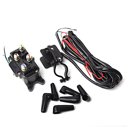 12V Solenoid Relay Contactor & Winch Rocker Thumb Switch COMBO for ATV UTV (Winch Switch)
