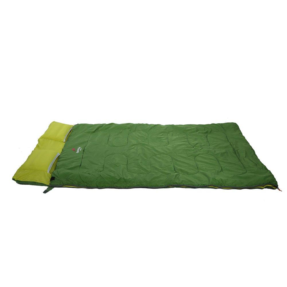 Zetiling Saco de Dormir Doble Saco de Dormir Doble para Exteriores Primavera y oto/ño Camping Senderismo Saco de Dormir port/átil con Almohada