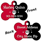 Double Sided Harley Quinn Pet Id Tag for Dogs & Cats Personalized for Your Pet (Regular 1.5''x1'')