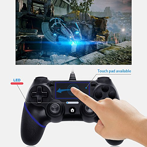 LREGO Wired Controller for PS4, DualShock 4 Wired Controller Wired Gamepad with 1.9m Cable(Updated) by LREGO (Image #2)