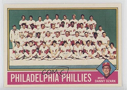 (Philadelphia Phillies Team; Danny Ozark Ungraded COMC Good to VG-EX (Baseball Card) 1976 Topps - [Base] - Team Photo Checklist Sheets Cut Singles #384)