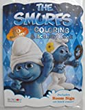 The Smurfs 80 Page Shaped Coloring and Activity Book with Stickers.