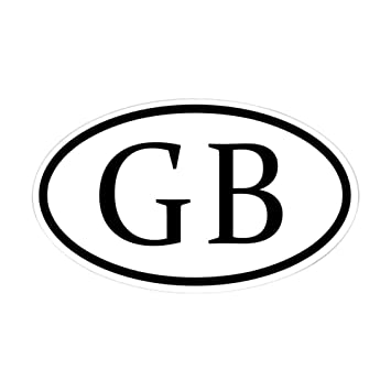 Cafepress great britain oval sticker oval bumper sticker euro oval car decal