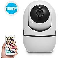 OWSOO 1080P Cámara WiFi Inalámbrica, Cámara IP, Monitor de Bebé con Detección de Movimiento, Alarma de Voz de Seguimiento, Audio Bidireccional, Vision Nocturna, Tarjeta TF, Almacenamiento en la Nube