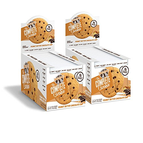 Lenny & Larry's The Complete Cookie, Peanut Butter Chocolate Chip, 2oz 8g Protein, Vegan (Pack of 24) ()