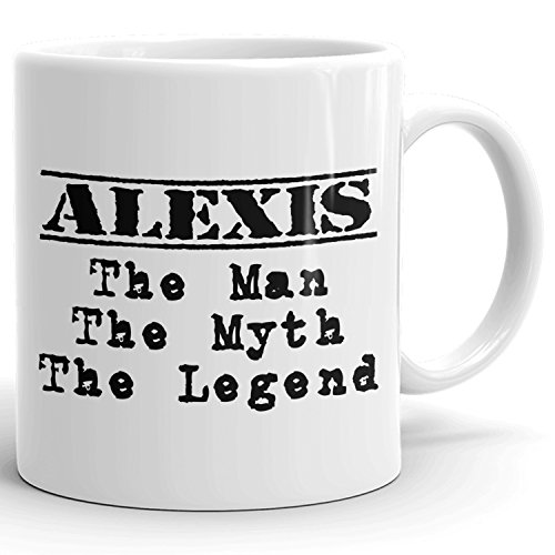Best Personalized Mens Gift! The Man the Myth the Legend - Coffee Mug Cup for Dad Boyfriend Husband Grandpa Brother in the Morning or the Office - A Set 1