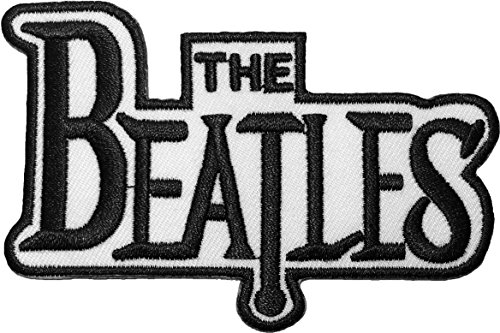 The Beatles Band Music Symbol Logo Sewing Iron on Embroidered Appliques Badge Sign Costume Patch - White